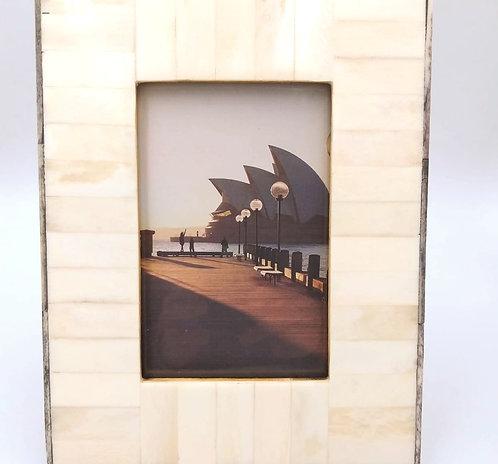 Bone Colour Border Picture Frame