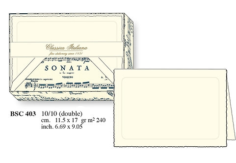 Rossi | Musical Score folded cards