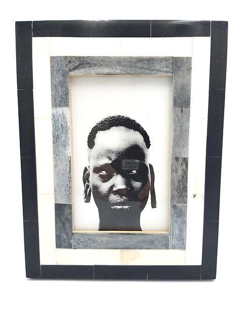Black White line Bone Frame