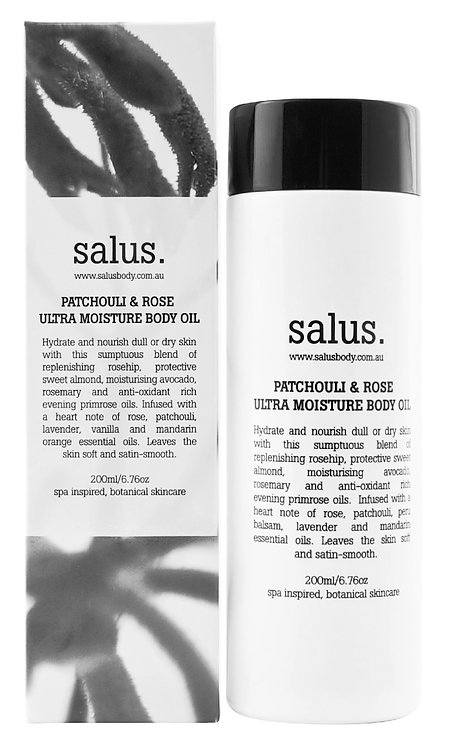Salus | Patchouli & Rose Ultra Moisture Body Oil 200ml
