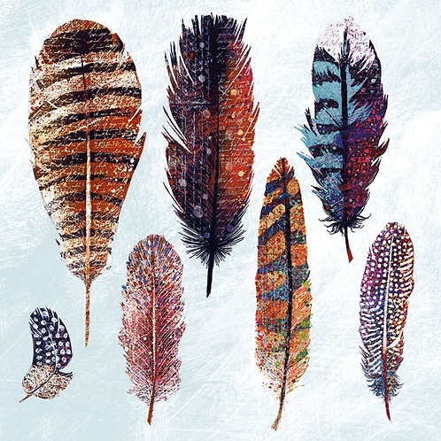 Ambiente Serviette | Multi Colour Feathers