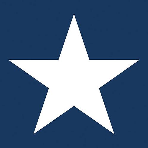 Ambiente Serviette   Star Dark Blue