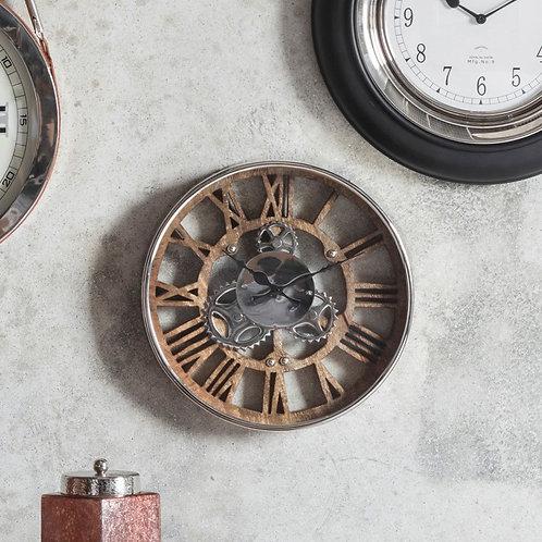 Fairbank Wall Clock Polished Nickel