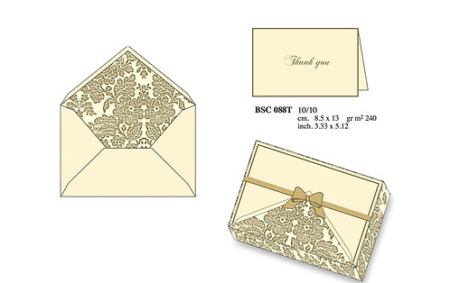 Rossi | Gold Brocade Folded card set