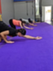 Stretching and recovery class working upper body flexibility