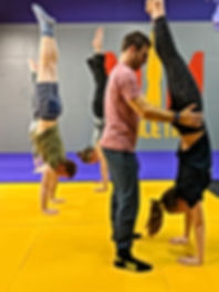 A handstand class in Syracuse N