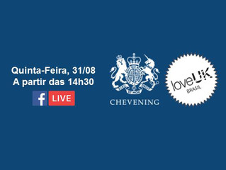 loveUK e Embaixada Britânica promovem Facebook Live sobre o Chevening