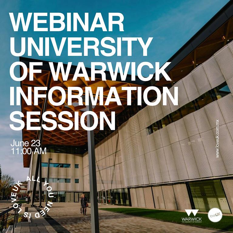 University of Warwick webinar