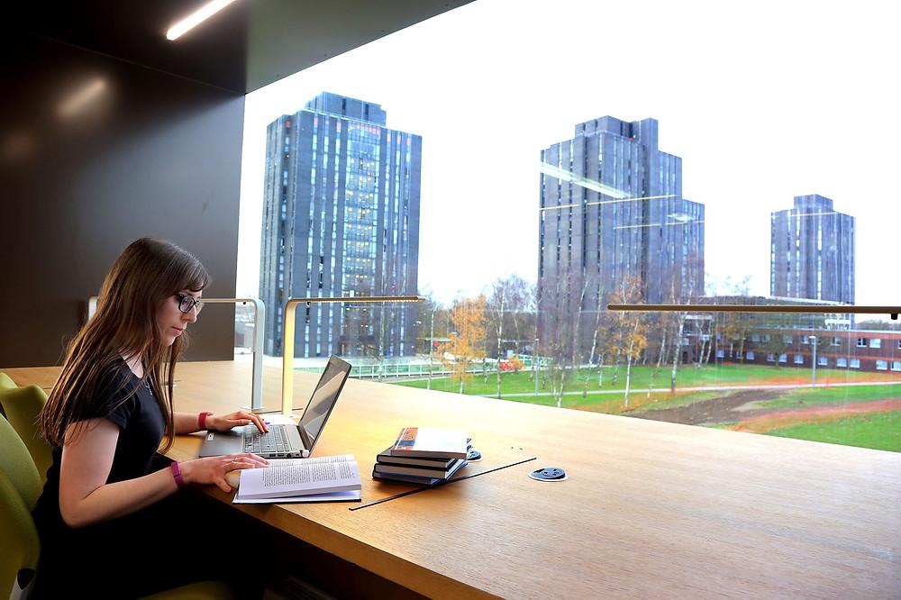 Biblioteca da Leeds University.