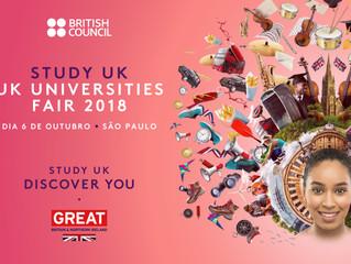 Feira gratuita discute oportunidades de estudo no Reino Unido em outubro