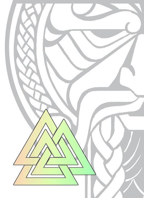 GJALLARHORN Viking Poker Deck Chameleon Holographic