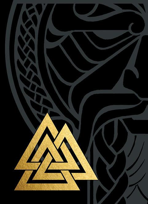 GJALLARHORN Viking Poker Deck Gold