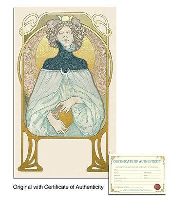 ORIGINAL GOLD LEAFED CARD ILLUSTRATION