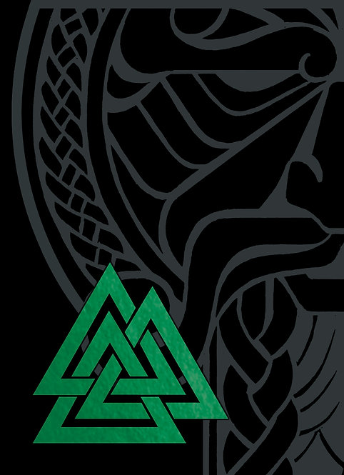GJALLARHORN Viking Poker Deck Green