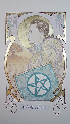 KNIGHT OF PENTACLES ORIGINAL - HOLIDAY SALE