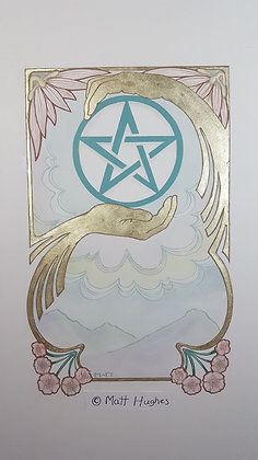 ACE OF PENTACLES ORIGINAL - HOLIDAY SALE