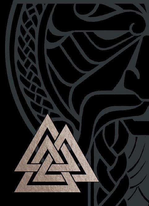 GJALLARHORN Viking Poker Deck Silver