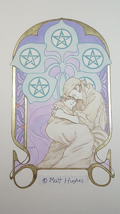 FIVE OF PENTACLES ORIGINAL - HOLIDAY SALE