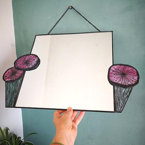 Pink Marigold Mirror