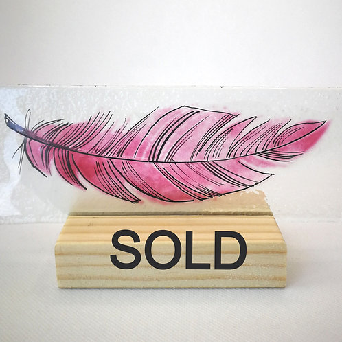 Rose Pink Feather