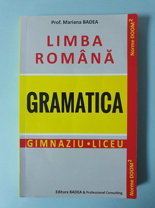 Prof. Mariana Badea - Limba Română - Gramatica