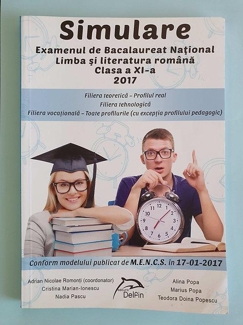 Simulare BAC - Limba și Literatura Română - Clasa A XI-a