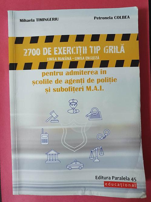 2700 de exerciții tip GRILĂ  - Limba Română, Limba Engleză - admitere subofițeri