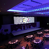 Widescreen Video Projecton at a Event