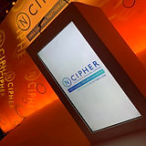 Branded Lectern example of Ncipher logo displayed on the lectern