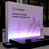 Seamless Graphics example at L3 Harris launch of a large format print.
