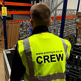 Avensys Hire & Events crew member carrying out health & safety procedures