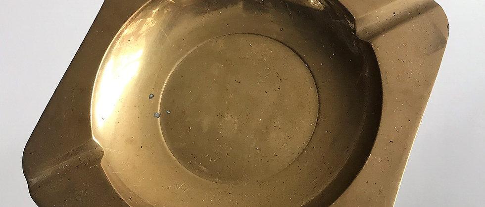extra-weighty brass ashtray
