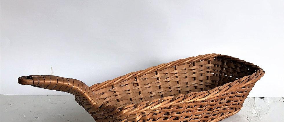 long, wicker basket with handle