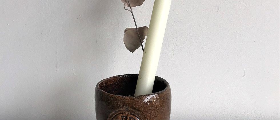 brown, ceramic cup