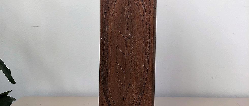 handmade wooden candleholder