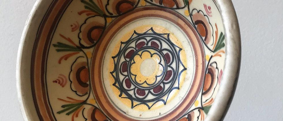 handpainted, decorative, vintage bowl