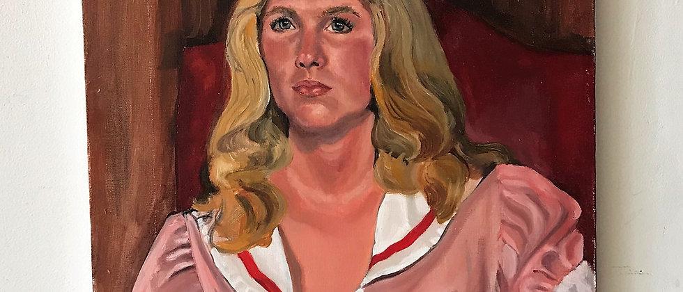 original portrait, on stretched canvas