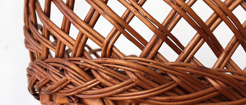 braided wicker basket