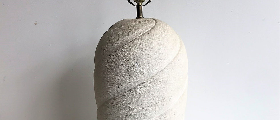 large, plaster table lamp