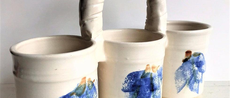 ceramic organizer, with handle