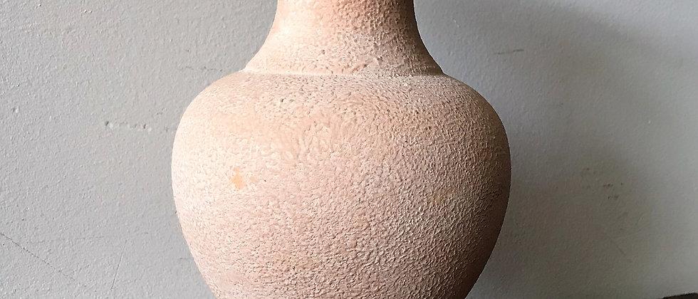 textured, peachy pink, ceramic vase