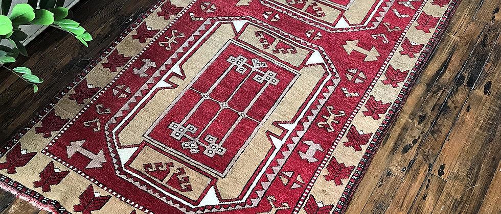 """vintage rug (80"""" x 40"""")"""
