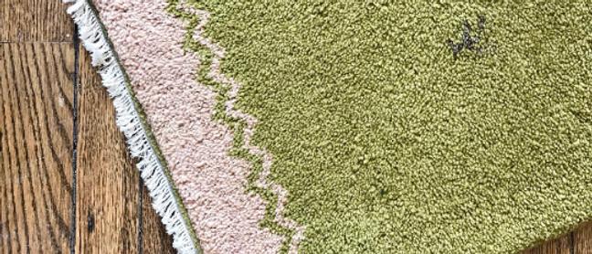 small, handmade vintage rug