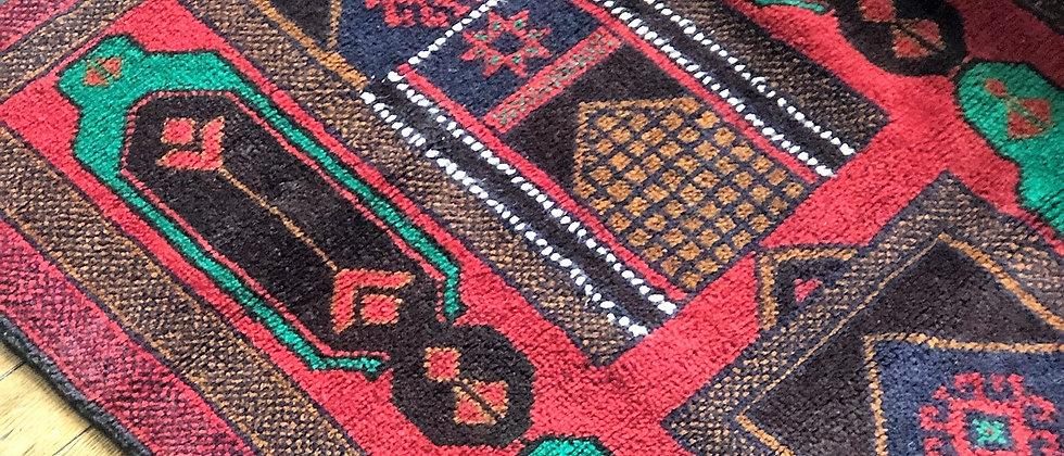 """vintage rug (57"""" x 34"""")"""