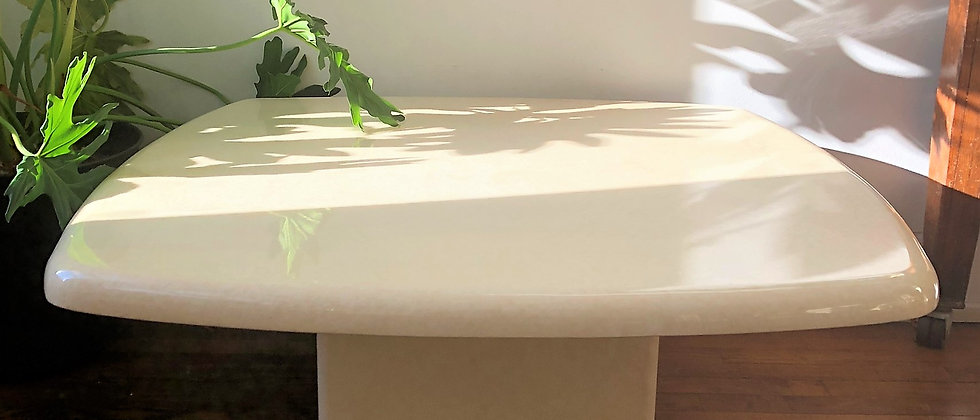 laminate coffee table, with pillar base