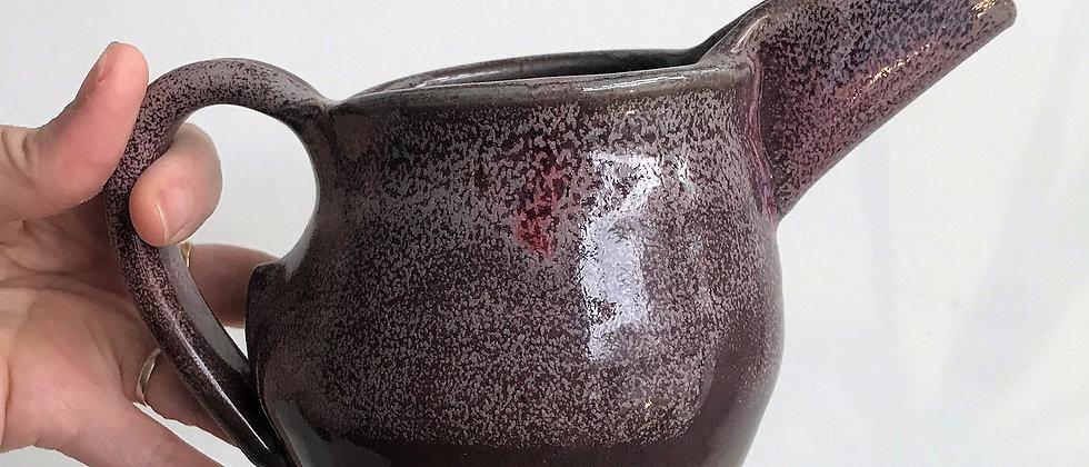 purple, ceramic creamer