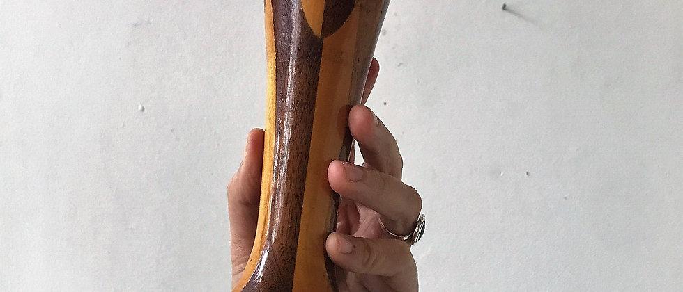 handmade, wooden vase