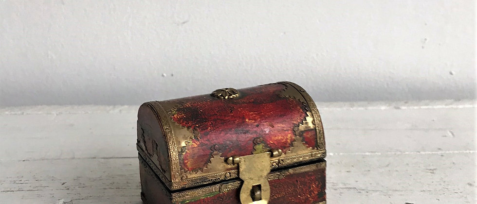 small, wooden treasure chest