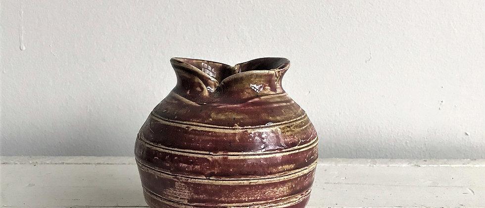 ceramic, purple vase