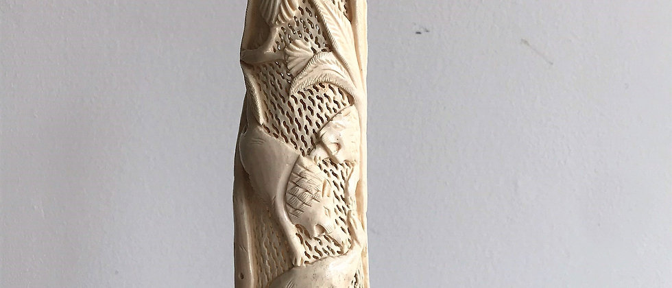 handcarved bone statue